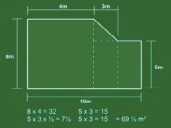Measuring a multi-shape lawn