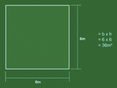 How to measure a square lawn