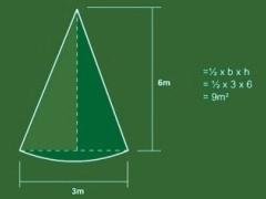 Measuring a triangle lawn