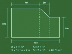 Measuring a multi-shape lawn